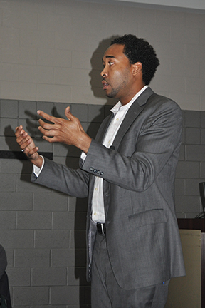 David Johns, Keynote speaker and Executive Director, White House Initiative on educational excellence for African Americans addresses the conference.