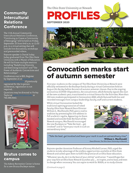 Front cover image of newsletter