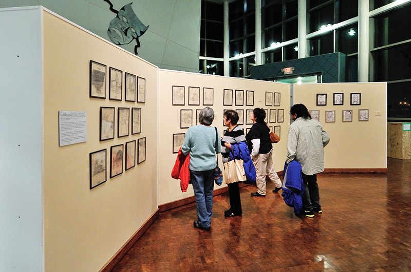 Guests view exhibit