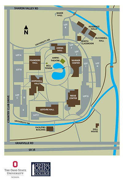 osu newark campus map Campus Map The Ohio State University At Newark osu newark campus map